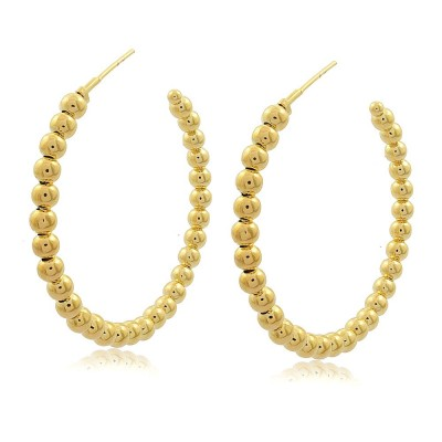 Laura Balls Hoop Earrings