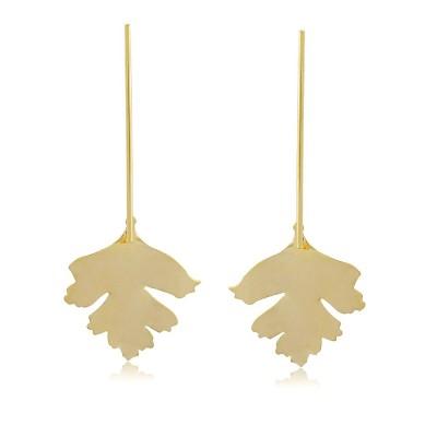 Maple Leaf Long Earrings
