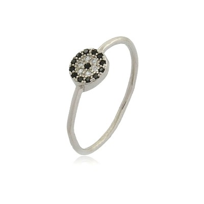 Dainty Zirconia Disks Ring