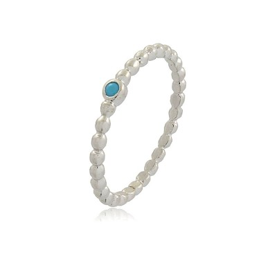 Dainty Dotty Aquamarine Ring