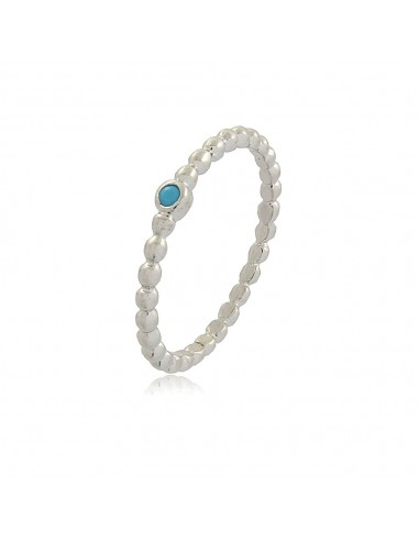 Dainty Ball Chain Aquamarine Ring