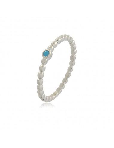 Dainty Dotty Aquamarine Ring