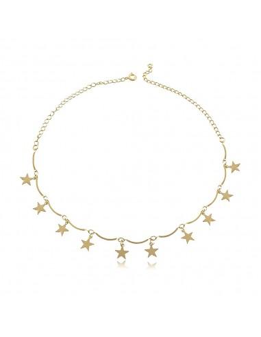 Collar Choker Diez Estrellas