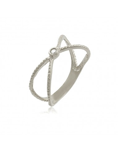 Dainty X Zirconia Ring