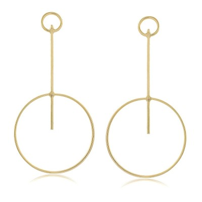 Circle and Line XL Earring