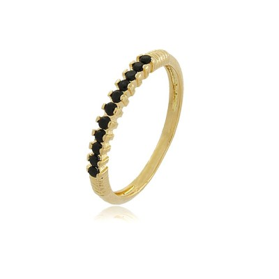 Dainty Black Zirconia Ring