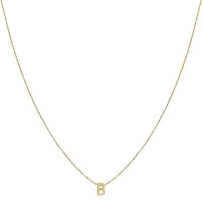 Colar Initials, colar curto com letra e corrente veneziana banhada a ouro 18 quilates