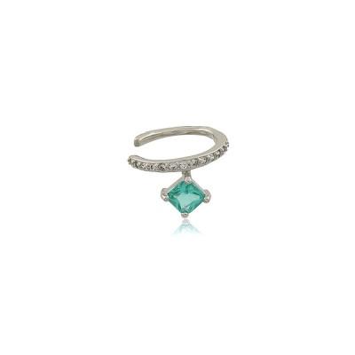 Aquamarine Crystal Ear Cuff