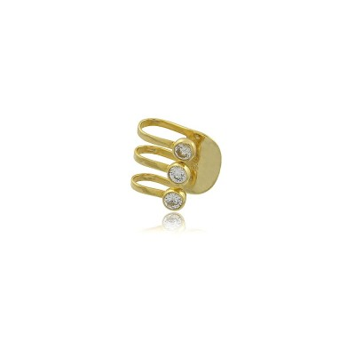 Ear Cuff Triple Punto Luz