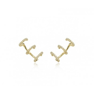 Triple Zirconia Ear Cuff