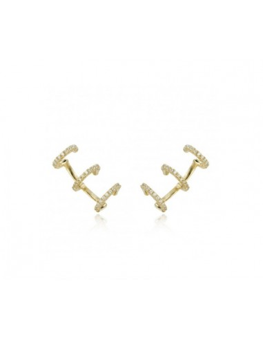 Ear Cuff Triple Zirconia