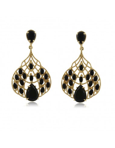 Cecile Noir XL Party Earrings