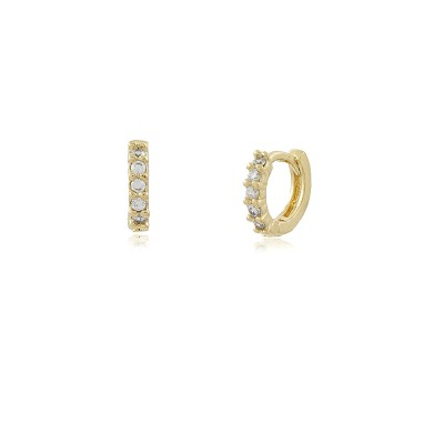 Zirconia Mini Hoop Earrings