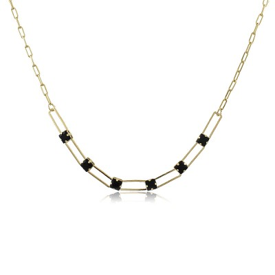 Carré Noir Choker Necklace
