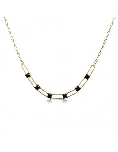 Carré Noir Choker Necklace