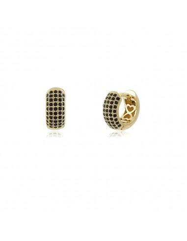 Mignon Noir Mini Hoop Earrings