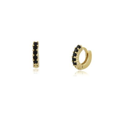 Noir Mini Hoop Earrings