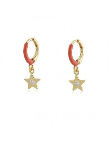 Colour Pop Star Hoop Earrings