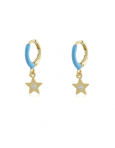 Colour Pop Star Hoop Earrings