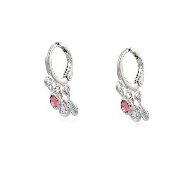 Three Colour Hoop Earrings