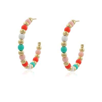Mix Colours Hoop Earrings