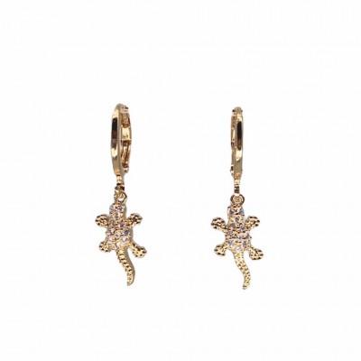 Crocodile Hoop Earrings
