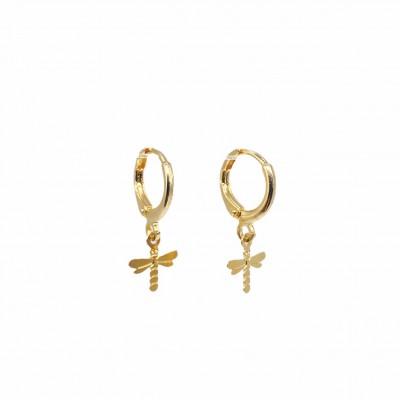 Dragonfly Hoop Earrings
