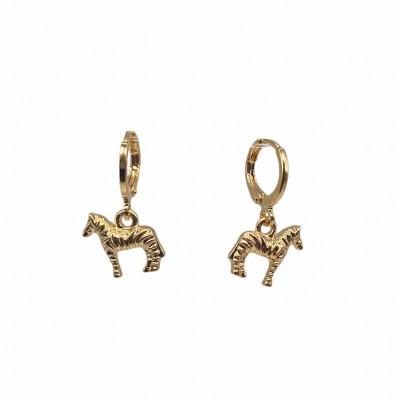 Horse Hoop Earrings