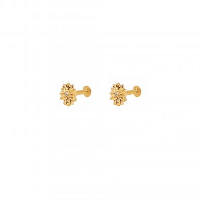 Piercing Lia earring in gold-plated surgical steel
