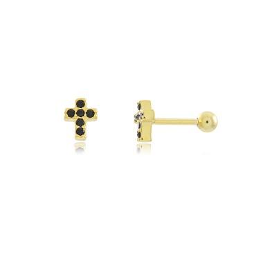 Cross Cz Piercing Earring