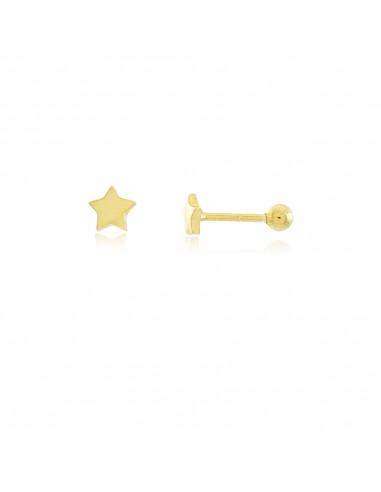 Pendiente Piercing Estrella en plata 925