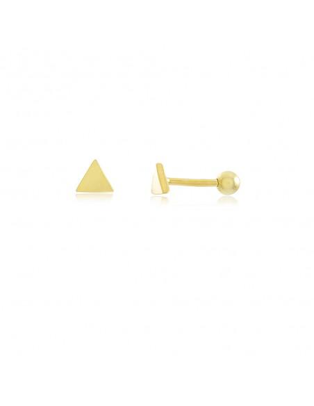 Pendiente Piercing Triangulo en plata 925