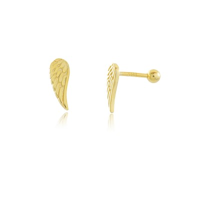 925 Sterling silver Feather Piercing Earring