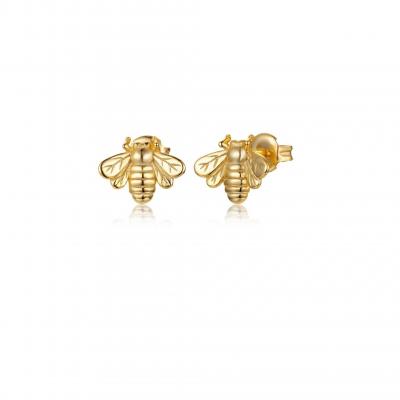 Gold Plated Bee Mini Earrings