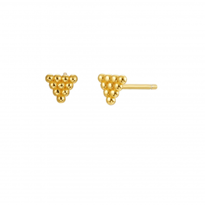 Gold Plated Mini Triangle Earrings