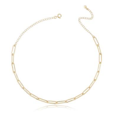 Collar Cartier Mia, collar corto cadena Cartier chapada en oro de 18 quilates