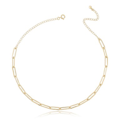 Cartier Mia necklace, 18 carat gold plated Cartier chain short necklace