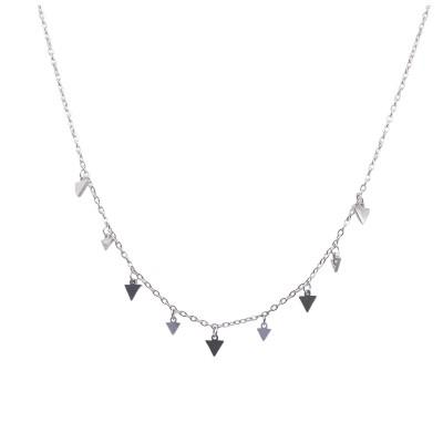 Tri Steel Short Necklace