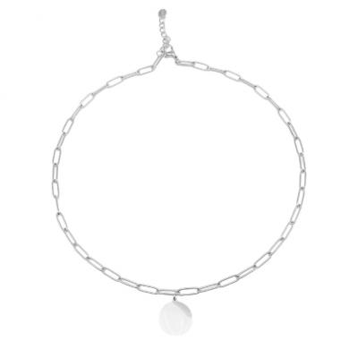 Plaque Steel Necklace