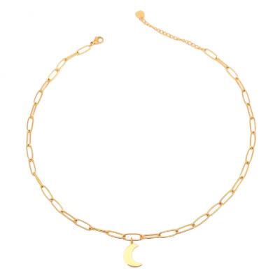 Half Moon Steel Necklace