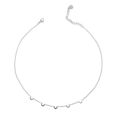 Moon Steel Necklace
