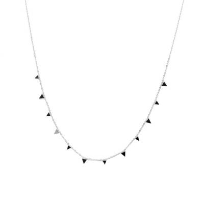 Tri Mini Steel Necklace