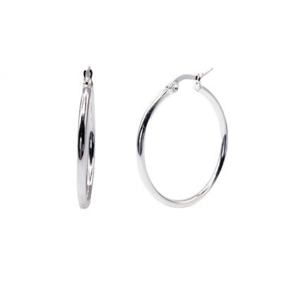 Steel Basic Hoop Earrings