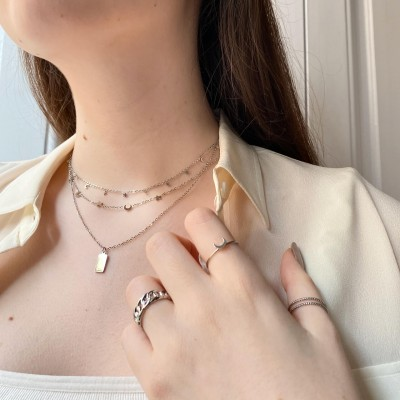 Mini Plaque Steel Necklace