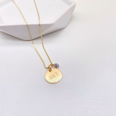 Stone Plaque Necklace